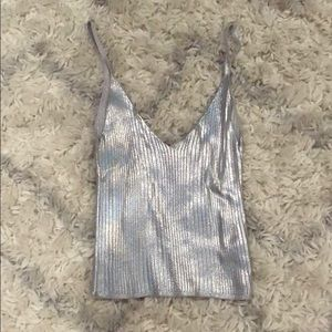 Urban outfitters silver tank top